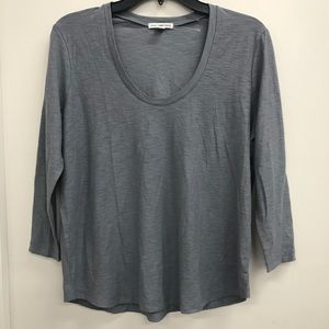 James Perse Grey  3/4  Sleeve Tee size 2 (M)